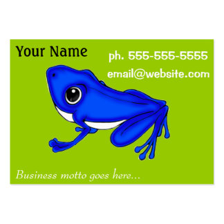 Blue Froggy chubby business card pack