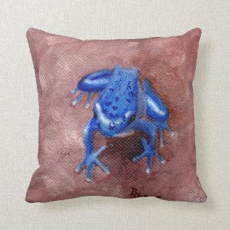 Blue Froggy Pillow