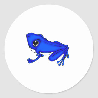 Blue Froggy Round Stickers