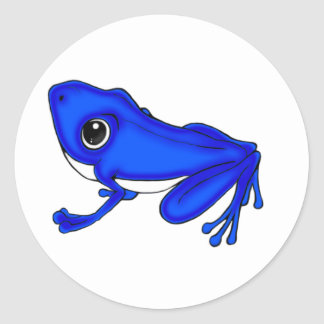 Blue Froggy Stickers
