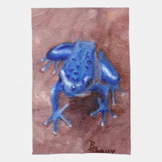 Blue Froggy Towel