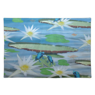 Blue Frogs On Lily Pads, Placemat
