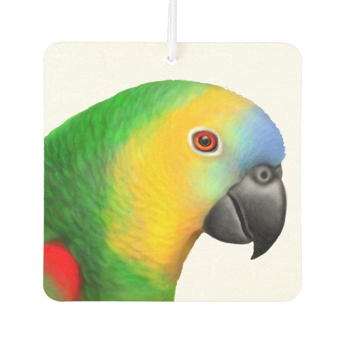 Blue Fronted Amazon Parrot Air Freshener Zazzle Com