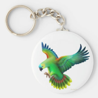 Blue Fronted Amazon Parrot Keychain