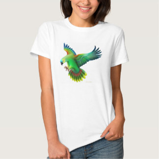 Blue Fronted Amazon Parrot Ladies Babydoll T-shirt