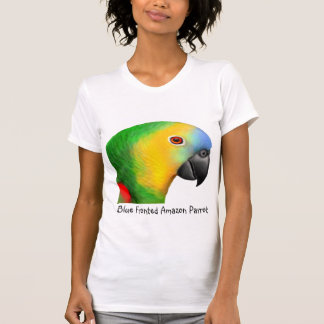 Blue Fronted Amazon Parrot Scoop Neck Shirt