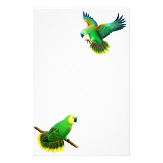Blue Fronted Amazon Parrot Stationery