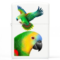 Blue Fronted Amazon Parrot Zippo Lighter