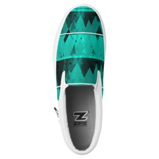 Blue Frost Glacier Snow Mountains ZIPZ Slip-On Sneakers