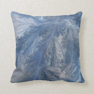 Blue Frost Throw Pillow