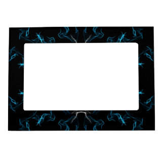 Blue Frosted Flames Magnetic Frame