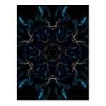 Blue Frosted Flames Post Card