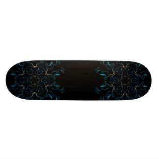 Blue Frosted Flames Skateboard