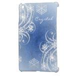Blue Frosted Flourishes Winter Mini Ipad Case iPad Mini Cases