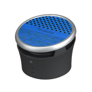 Blue Frosted Halloween & Polka Dots Bluetooth Speaker