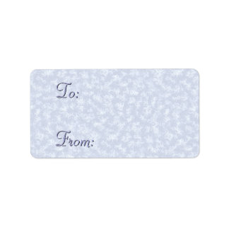 Blue Frosted Holiday Gift Labels