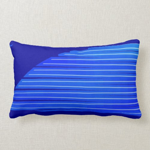 Blue Frosted Wings Lumbar Pillow