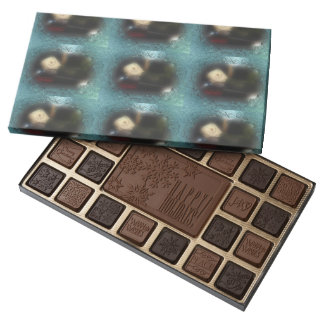 Blue Frosty Window S'mores Camper 45 Piece Box Of Chocolates