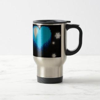 Blue Frozen Heart Travel Mug