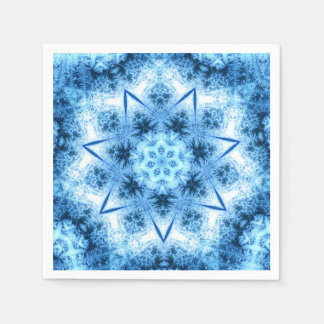 Blue Frozen Ice Crystals Napkins