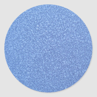 Blue Frozen Surface Ice Crystal Background Classic Round Sticker