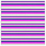 [ Thumbnail: Blue, Fuchsia, and Beige Striped/Lined Pattern Fabric ]