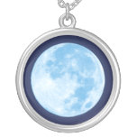 Blue Full Moon Necklace