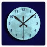 Blue Full Moon Wall Clock