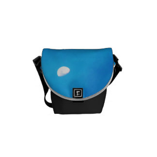 Blue Full Moon With Courier Bag