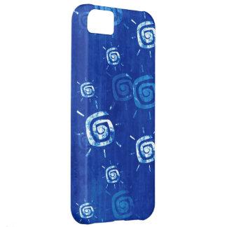 Blue Fun Sun Grunge Cover For iPhone 5C