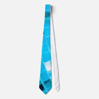 Blue Funky Disco Ball Neck Tie