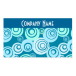 Blue Funky Retro Business Card Business Card