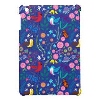 Blue funny Bird Design Case For The iPad Mini