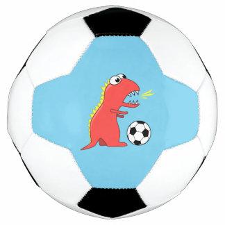 Blue Funny Cartoon Dinosaur Soccer Soccer Ball