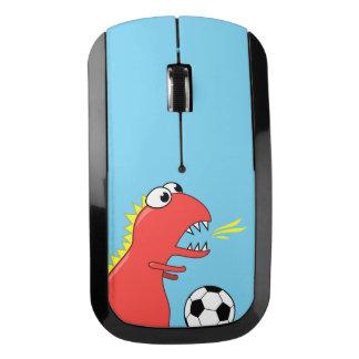 Blue Funny Cartoon Dinosaur Soccer Wireless Mouse