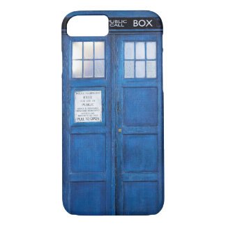 Blue Funny Phone Booth Call Box iPhone 8/7 Case
