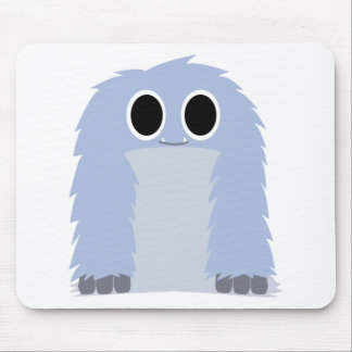 Blue Furry Monster Mouse Pad