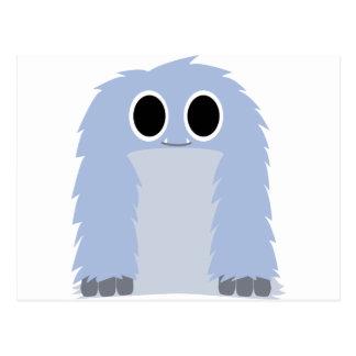 Blue Furry Monster Postcards