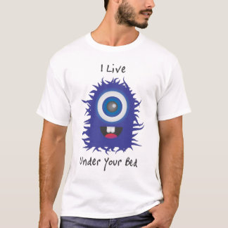 Blue Furry Monster T-Shirt