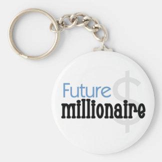 Blue Future Millionaire Keychain