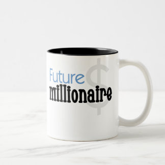 Blue Future Millionaire Two-Tone Coffee Mug