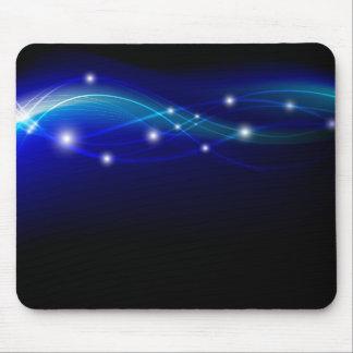 Blue futuristic mouse pad layout