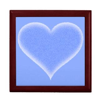 Blue Fuzzy Heart Customizable Jewelry Box
