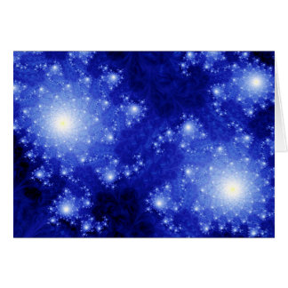 Blue Galaxies Greeting Cards