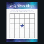"Blue Galaxy Baby Shower Bingo Game Letterhead<br><div class=""desc"">Blue Galaxy Baby Shower Bingo Game</div>"