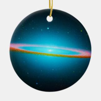 Blue Galaxy Ceramic Ornament