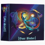 Blue Galaxy Dragon binder_2_front.v4 3 Ring Binder