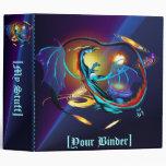Blue Galaxy Dragon binder_2_front.v4 Vinyl Binders