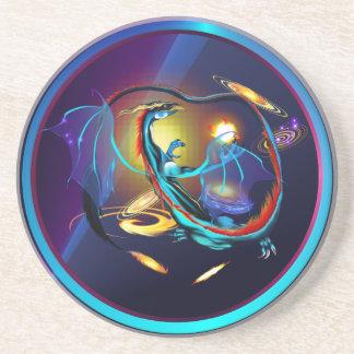 Blue Galaxy Dragon Coasters