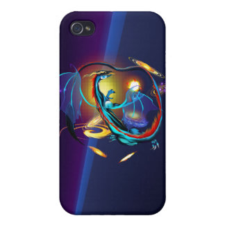 Blue Galaxy Dragon  iPhone 4 Cases